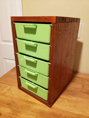 Vintage Organizer Wood/Plastic Drawers for Sale in Alexandria, VA