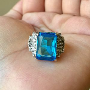 Sterling silver plated aquamarine ring for Sale in Silver Spring, MD