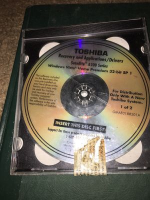 Toshiba Recovery for Sale in Chapel Hill, NC