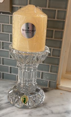 Waterford Bethany Pillar w/ Candle for Sale in Washington,  DC