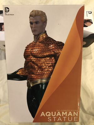 Aquaman Statue DC Comics Icons DC Collcetibles by Gentle Giant Studios. NEW IN BOX VERY COLLECTABLE TRADES ARE WELCOME for Sale in Los Angeles, CA