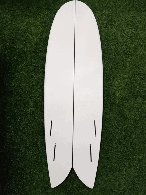 Retro Fish Surfboard Quad