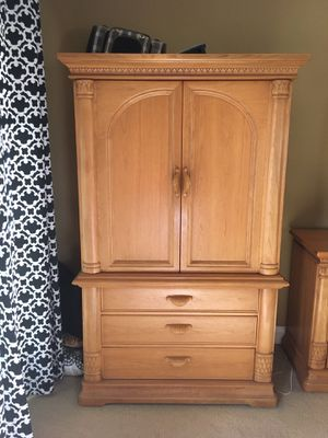 Bernhardt armoire and queen headboard for Sale in Lake Forest, CA