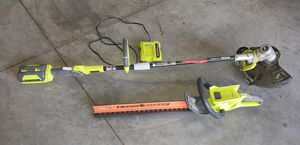 Ryobi 40V cordless weed trimmer & hedge trimmer for Sale in Lakeside, AZ