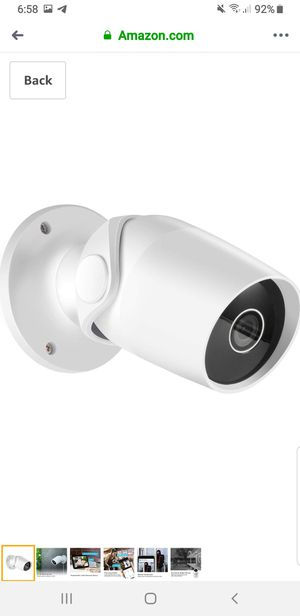 Outdoor Security Camera Boaraino 1080P Wireless IP Home Smart Camera Works with Alexa, for Sale in Union City, CA
