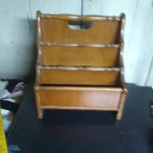 Vintage Solid Wood Magazine Rack for Sale in Freeland, PA