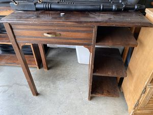 Antique solid wood desk w/functional drawer and shelving for Sale in Smyrna, TN