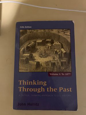 Thinking Through the Past John Hollitz book! for Sale in San Antonio, TX