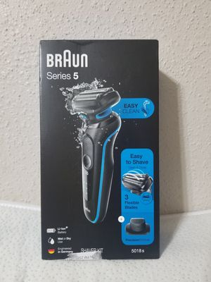 Braun - Series 5 EasyClean Wet/Dry Electric Shaver - Blue Brand New Retail: $69.99+tax for Sale in Houston, TX