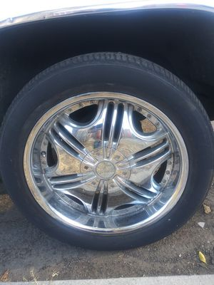 "Chrome 20"" F5 universal 5 lug for Sale in Fresno, CA"