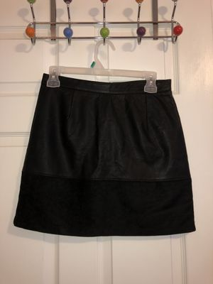 Black leather mini skirt size small. NEVER WORN for Sale in Murfreesboro, TN