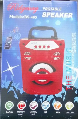 Small Portable Bluetooth speaker Loud ) ) ) ) FM radio Thumb drive player Mini SD card player for Sale in Bakersfield, CA