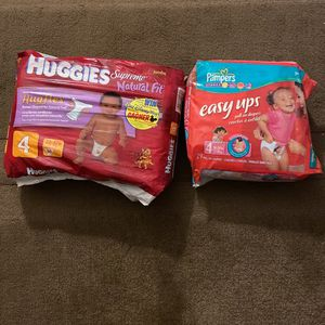 Huggies Supreme Natural fit #30 And Pampers Easy Ups #29 For 4 for Sale in Wayland, MA