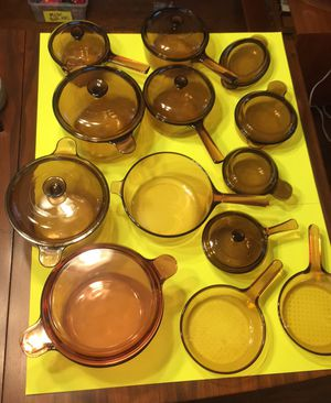 Vision Ware Glass Cookware Huge Set/Great Pieces!! for Sale in Frederick, MD