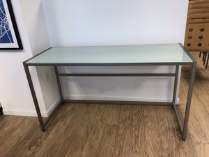 Modern Frosted Glass / Metal Desk for Sale in Miami, FL