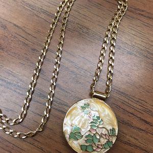 Mary Kay Enameled Perfume Locket Slider Pendant Necklace Vintage for Sale in Henderson, NV
