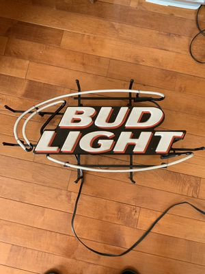 """BUD LIGHT NEON SIGN 28""""x15"""" works great for Sale in Rockville, MD"""