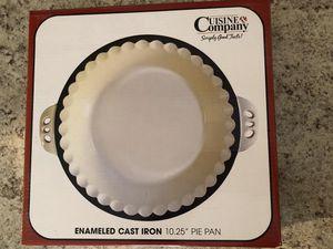 Enamel cast iron pie pan for Sale in Tempe, AZ