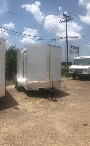 Enclosed 6x12 tandem axle w barn doors for Sale in Dallas, TX