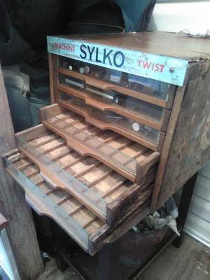 Antique Dewhursts Sylko thread cabinet for Sale in Kolin, LA