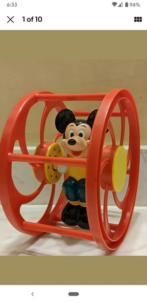 70s Mickey Mouse Rolling Toy Vintage Disney for Sale in Miami, FL