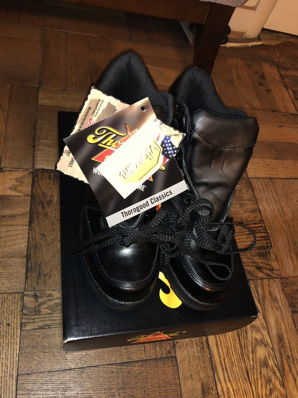NEW Thorogood Black Code 3 6-inch Enforcer Work Boots 834-6075 Size 8.5 W