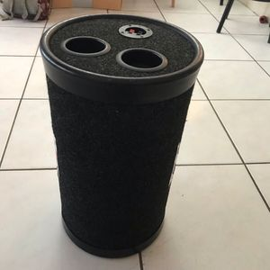Pyle Tube Toobz Round Bass Charcoal Carpeted Round Tube RP-1000 Tech Tested (willing to trade) Perfect Bass Sound From Engineered Round Tube. 10 Inch for Sale in Pembroke Pines, FL