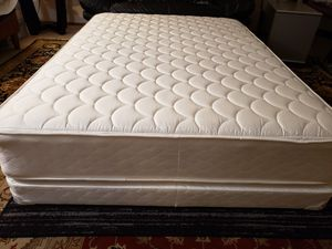 Like New Full size Bed Mattress set box spring bed frame for Sale in Lynnwood, WA