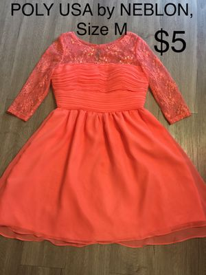POLY USA by NEBLON, Salmon Dress, Size M for Sale in Phoenix, AZ