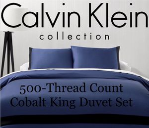 Calvin Klein Joan Cotton 500-TC Cobalt Duvet Cover Set|King for Sale in Seattle, WA