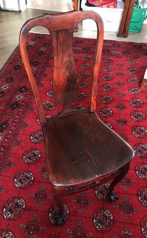 Antique Dark Cherry Wood Chair from Germany for Sale in San Francisco, CA