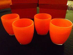 Set of 4, bright orange kitchen glasses for Sale in Las Vegas, NV