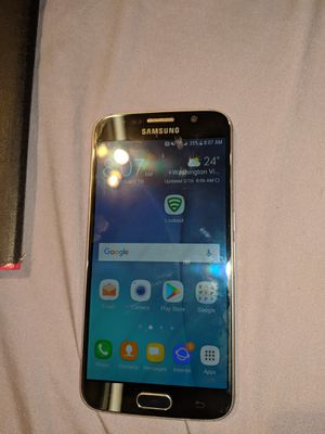 Samsung Galaxy s6 32GB TMOBILENo scratch at all black plated very good phone for Sale in Denver, CO