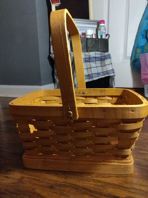 Small woven wooden basket for Sale in Knoxville, TN