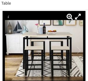 Metal and wood 5 piece pub table new in box for Sale in Yuma, AZ