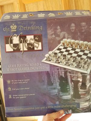 Glass Chess drinking board for Sale in Tempe, AZ