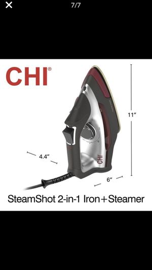 CHI STEAM SHOT 2 IN 1 IRON PLUS STEAMER BRAND NEW!! BEST PRICED AND LOCAL PICK UP!! NO TAX!! NO LINES!! for Sale in Long Beach, CA