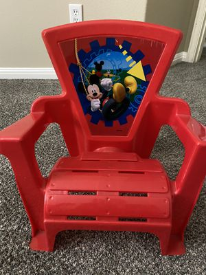Disney Mickey Mouse red plastic kids chair for Sale in Round Rock, TX