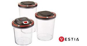 Set of 3 vestia auto vacuum sealing food storage container for Sale in Oxford, NC