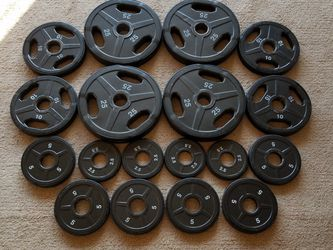 Rubber Edge Olympic Weight Plates (2 In) for Sale in Alpharetta,  GA