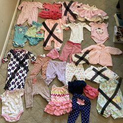 Baby Girl Clothes Size 0-3M (48 Pieces) for Sale in Indio,  CA