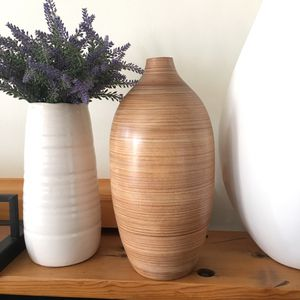 crate and barrel wooden vase for Sale in Los Angeles, CA