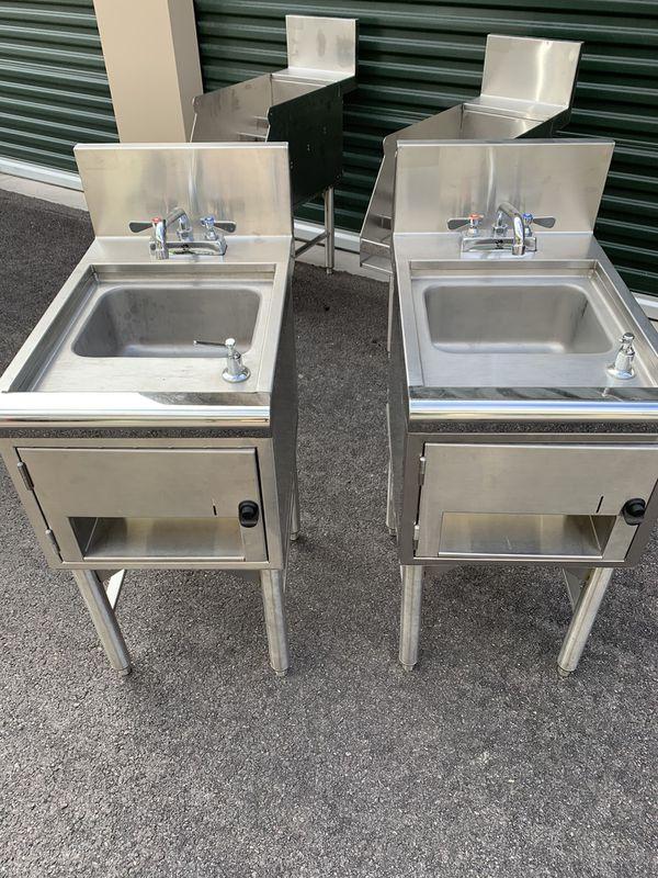 For Sale: 2 - Supreme Metal Commercial Under Bar Hand Sink $400/set