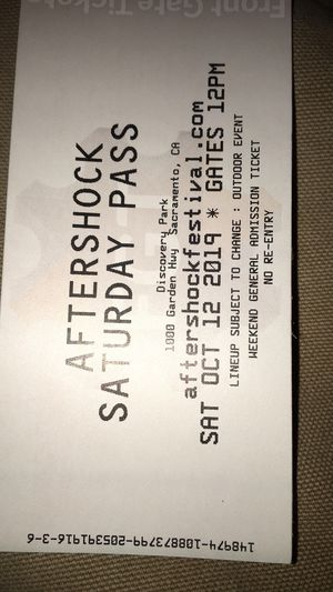Aftershock tickets 2 of them for Sale in Sacramento, CA