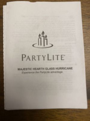 Party Lite Glass Hurricane with tea-light candle holder. for Sale in West Hartford, CT