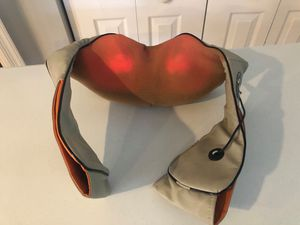Electric Neck & Back Shiatsu Massager with Heat Deep 4D Kneading Massa for Sale in Hollywood, FL