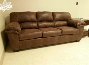 Coffee Leather Sofa / Couch by Ashley for Sale in Houston, TX