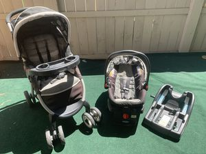 Graco Click Connect Stroller & Car Seat w/ 2 Bases for Sale in San Diego, CA