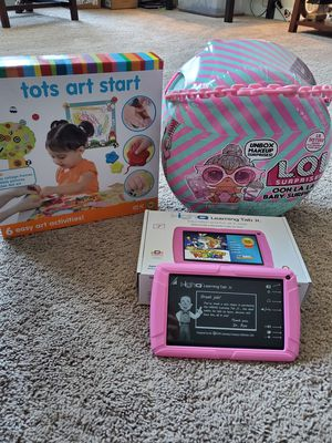 LOL dolls, tots art set, and high learning tablet jr. for Sale in Richmond, VA