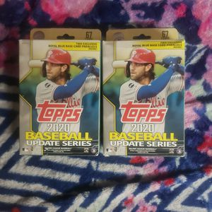 2020 Topps Baseball Update Series Hanger Box. 67 Cards. 2 Boxes Available for Sale in Lynnwood, WA